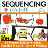Fall Picture Sequencing Activities with Story Retell and Writing