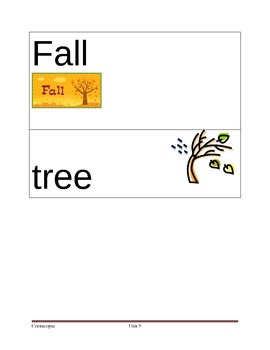 Fall Picture Vocabulary Cards
