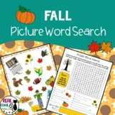 Fall Picture Word Search Puzzle