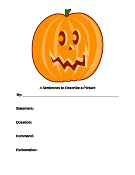Fall Pictures to Illustrate 4 Types of Sentences