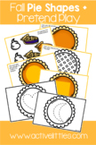 Fall Pie Shapes Placemats + Pretend Play