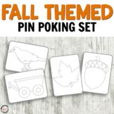 Fall Pin Poking Printables for Fine Motor Activities