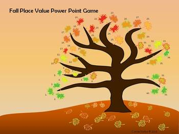 Fall Place Value Power Point Game