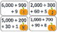 Fall Place Value Scoot Thousands