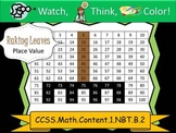 Fall Place Value - Watch, Think, Color Mystery Pictures