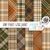 Fall Plaid Digital Paper for Crafts and Classroom Decor