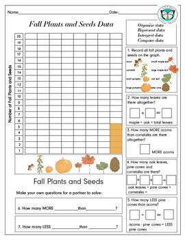 Fall Graph Fall Plants and Seeds Graphing