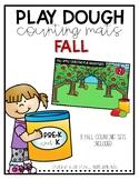 Fall Play Dough Counting Mats