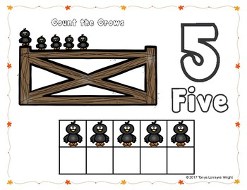 Fall Play-Dough Counting Mats for 0-10