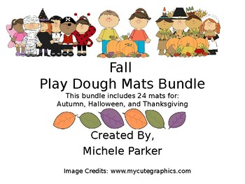 Fall Play Dough Mat Bundle FREEBIE Sampling
