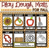 Fall Play Dough Mats --- Six Picture Mats and Ten Apple Counting Mats for 1-10