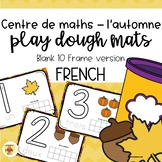 Fall Play Dough Mats - FRENCH - Blank 10 Frame