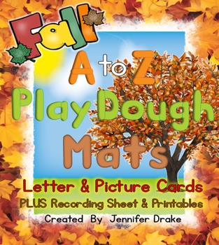 Fall Play Dough Mats For A to Z!  Letter & Picture Mats PLUS Printables!