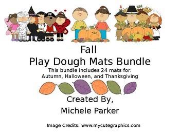 Fall Play Dough/Play-Doh Mats Bundle