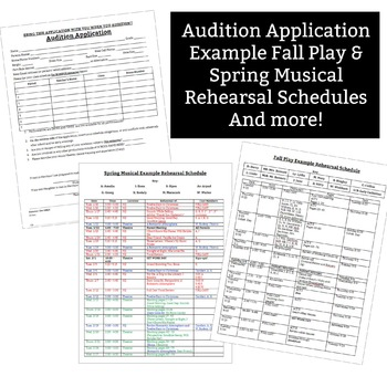 Fall Play Spring Musical Audition Packet Template