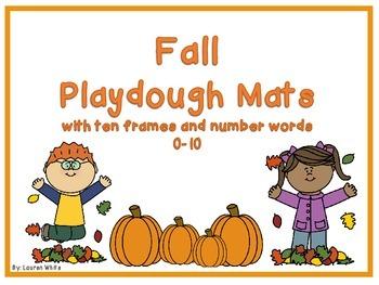 Fall Playdough Ten Frame Mats