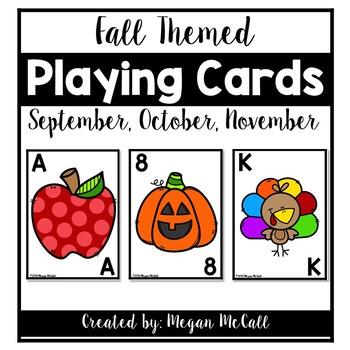 Fall Playing Cards (September, October, November)