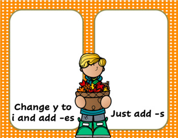 Fall Plural Change Y to I or Just Add -S