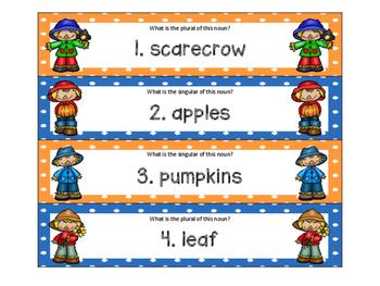 ZAP! Fall Plural Nouns