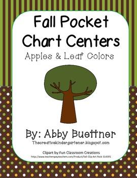 Fall Pocket Chart Center