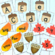 Fall Pocket Chart Game: Numbers 1-20, Alphabet & Sight Words