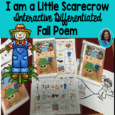 "Fall:  Circle Time Poem "" I am a Little Scarecrow""  Interactive Book"