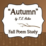 """Autumn"" by T.E. Hulme - Fall Poem Study"