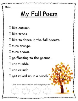 Fall Poem and Activity