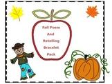Fall Poem and Retelling Bracelet
