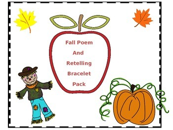 Fall Poem and Retelling Bracelet