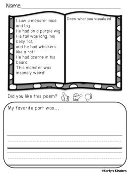 Fall Poems: Visualizing No-Prep Worksheets