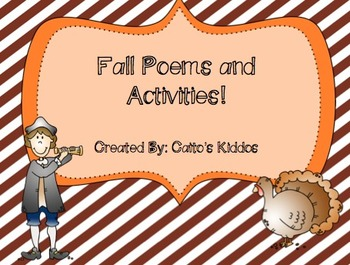 Fall Poems and Activities!