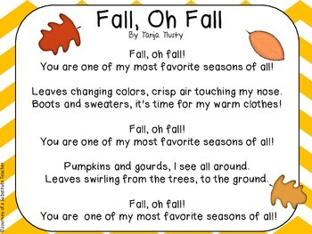 Fall Poems and Writing Pack