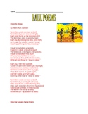 Fall Poems for Elementary Grades