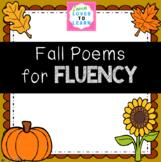 Fall Poems for FLUENCY