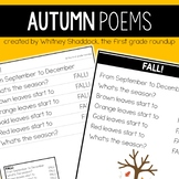Fall Poems for Shared Reading