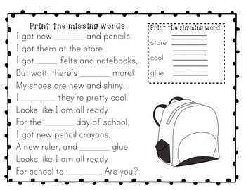 Fall Poems to Ponder - Response Activities
