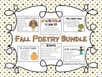 Fall Poetry Bundle