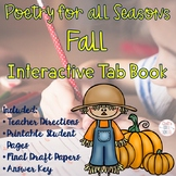 Fall Poetry Writing Unit Tab Book