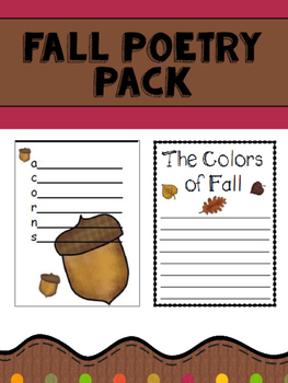Fall Poetry Pack
