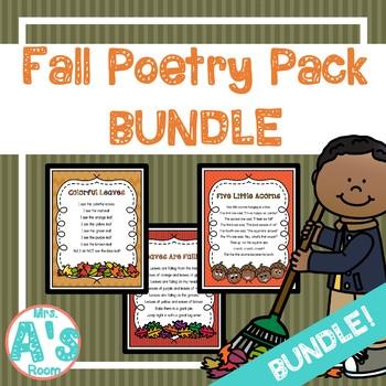 Fall Poetry Packs **BUNDLE**