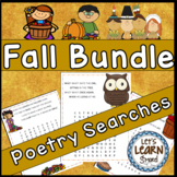 Fall Poetry, Word Searches, Fall Theme, With Original Poetry, Fall Activities