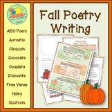 Poetry Writing - Fall Acrostic, Cinquain, Couplets, Diaman