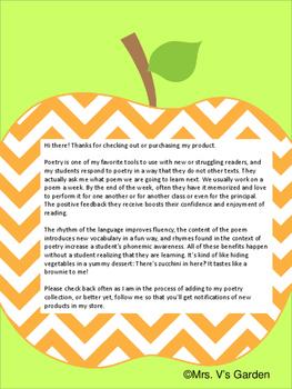 Fall Autumn Poems & Activities ~ No Prep ~ Apples, Pumpkins, Owls, Scarecrows
