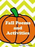 Fall Autumn Poems & Activities ~ No Prep ~ Apples, Pumpkin
