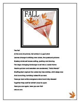 Fall Poetry and Collaborative Thinking Work