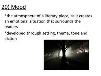Fall Poetry for Analysis and Learning Poetic terms PowerPoint 80 slides