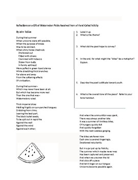Fall Poetry packet