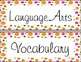 Fall Polka Dot Daily Schedule Subject Labels