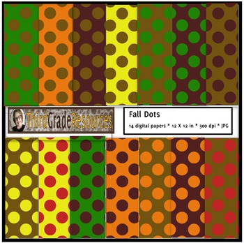 Fall Polka Dots Digital Paper